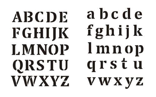 Buchstaben schablonen kostenlos