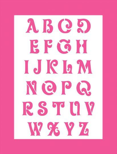 schrift schablone hobby bastel mix shop wand mal motiv schablonen druckbuchstaben alphabet. Black Bedroom Furniture Sets. Home Design Ideas