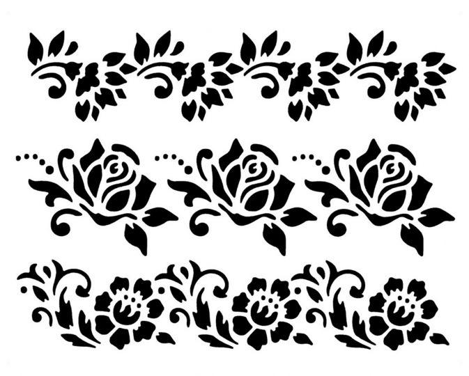 wand mal textil motiv schablonen bord re blumen rosen hobby bastel mix shop berlin hobby. Black Bedroom Furniture Sets. Home Design Ideas