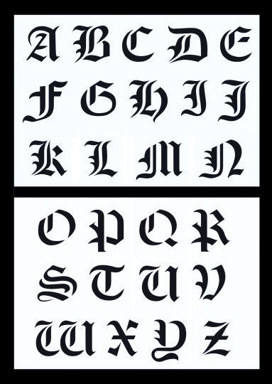 Buchstaben schablonen