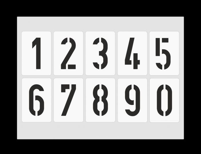 Schablone Nr.35 Zahlen 3,5cm hoch ● 3 Zahlenschablonen